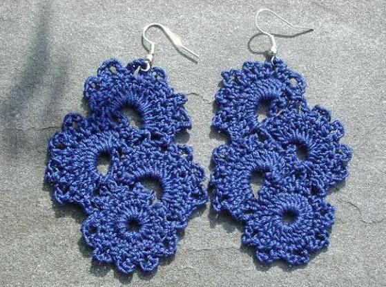 Crochet Patterns Tutorial : Alfa img - Showing > Crochet Earrings Tutorial