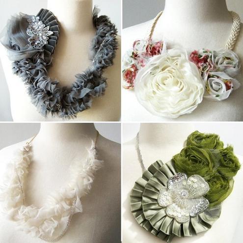 Necklace handmade fabric  Etsy