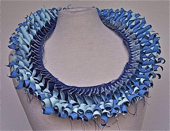 Paper Jewellery Necklace Blue Necklace Paper