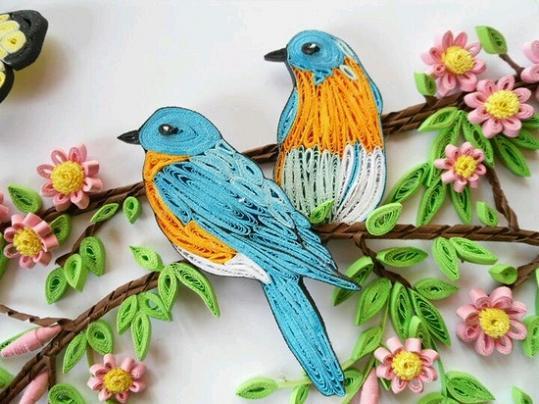 bird-quilling-designs