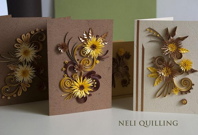 ingredients neli has crafted beautiful handmade cards with quilling