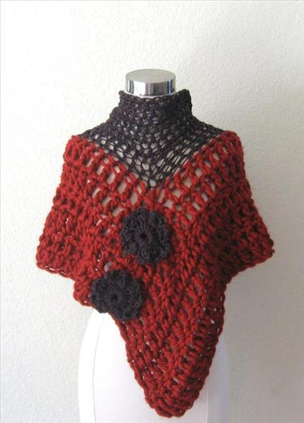 Free Crochet Patterns For Ponchos And Shawls : Free Crochet Pattern For Shawls And Ponchos images