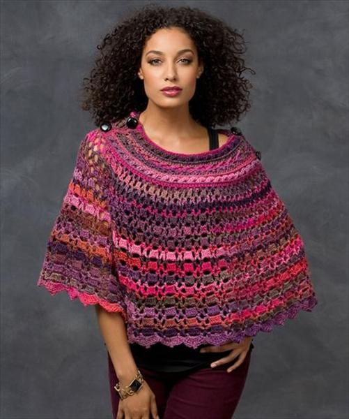 Crochet Poncho : Crochet Poncho Patterns and Designs For Inspiration - Life Chilli