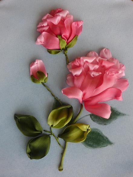 Alfa Img  Showing Gt How To Make Silk Ribbon Embroidery Roses