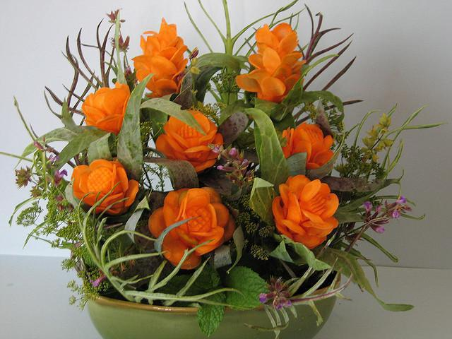 carrot-carving-floral-bouquet
