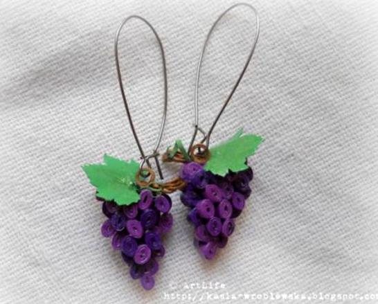 Quilling Earrings Designs Images : Ring Designs: Paper Quilling Earring Designs