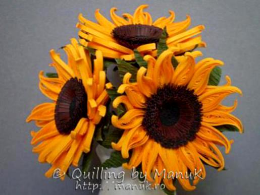 Make Quilling Sunflower Quilling-sunflower