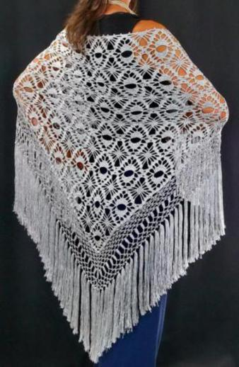 anime/easy prayer shawl crochet pattern